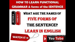 What are the names of five forms of the sentence? What are 4 forms of the sentence?