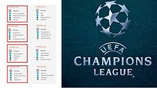 Футбол. Лига Чемпионов. Группа A. B. C. D. Результаты. Расписание. Таблицы. 4 тур.
