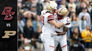 Boston College vs. Purdue Football Highlights (2018)