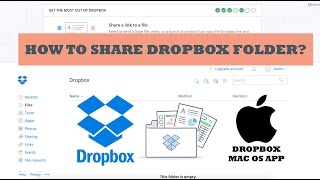 Share Dropbox folder and file.