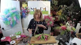 Adding Florals To Deco Mesh Wreaths HD Version