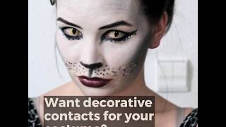 Want decorative contacts for your costume?