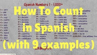 Spanish Numbers From 1 to 1,000 with 9 Examples of Common Uses!