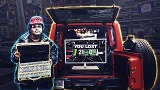 i set up nba 2k19 in my jeep and challenged my city to a simple wager
