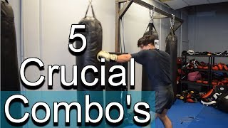 5 MUST KNOW Boxing Combos For Beginners (2018)