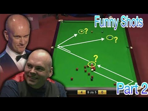 Funny Shots of Snooker goes Very Lucky | funny side of serious snooker part 2