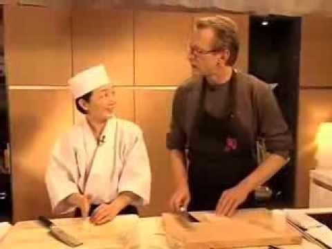 KAI Japan Messer im Einsatz Sushimesser, Sashimimesser, Debamesser, Nakiri  und Santokumesser