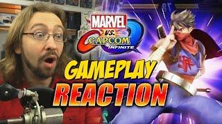 MAX REACTS: Marvel Vs. Capcom Infinite NEW Gameplay & Supers