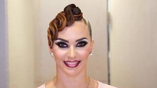 Renata Lusin - Hair And Makeup Transformation - 2018 WDSF PD Super Grand Prix Stuttgart