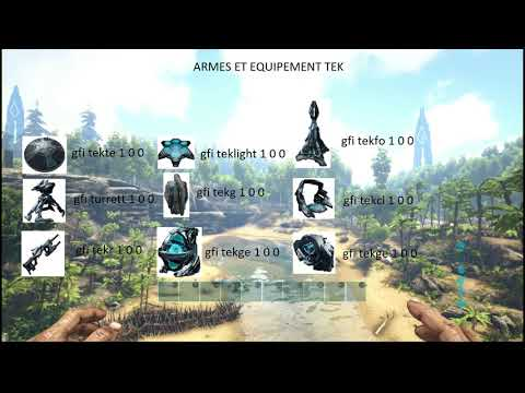 ARK TUTORIAL How To Spawn Tek Tier Sword Shield And Light Plus Paint