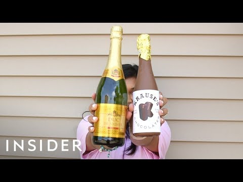 Chocolate Champagne Bottle's are the Perfect Gift