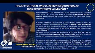 Projet Lyon-Turin: un désastre écologique aux frais du contribuable européen ?