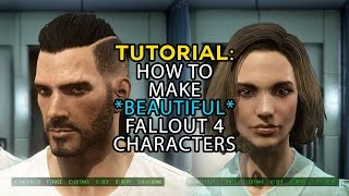 Fallout 4: Tutorial Walkthrough How to Make Hot Characters - male and female
