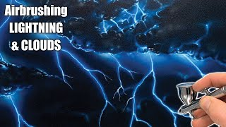 Learn How To Airbrush Lightning & Clouds.