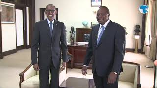 Kagame makes a courtesy call to President Uhuru