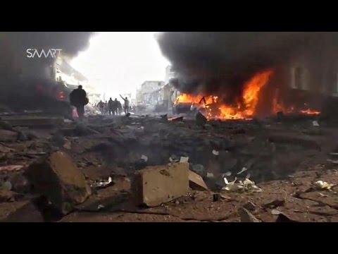 Δεκάδες νεκροί και τραυματίες από επίθεση στη συριακή πόλη Αζάζ