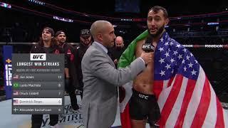 UFC Boston: Dominick Reyes & Chris Weidman Octagon Interview
