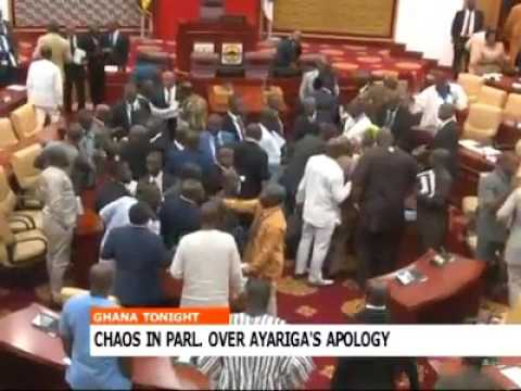 Video: Chaos erupts in Parliament over bribery report