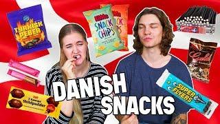 Trying Danish Snacks