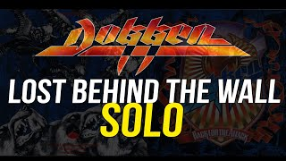 Dokken Lost Behind The Wall Solo Guitar Lesson, George Lynch - Lynch Lycks S3 Lyck 34