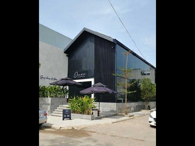 """Thi công thực tế quán cafe """"Ours coffee"""" tại Long Thành, Đồng Nai"""