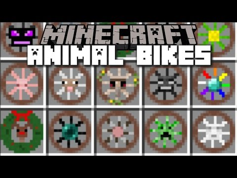Minecraft ANIMAL BIKES MOD / RIDE ENDER DRAGONS AND ENDERMAN!! Minecraft