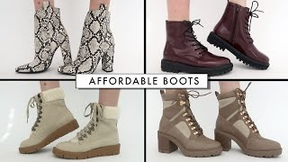 AFFORDABLE Fall - Winter Boots Shoe Haul   Miss Louie
