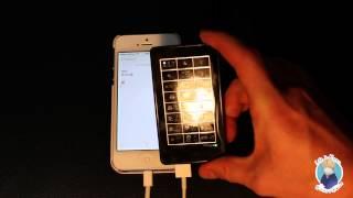Смотреть онлайн Внешняя клавиатура с дополнительной подзарядкой для Айфона