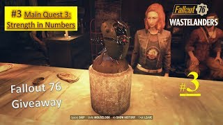 Fallout 76 Wastelanders DLC - Strength in Numbers - Gauley Mine - Find Polly - Learn about crane