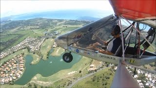 Flying the Rans S12 over Palmas del Mar at Humacao