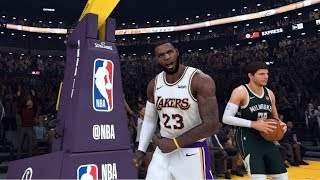NBA 2K20 - Milwaukee Bucks vs. Los Angeles Lakers - Full Gameplay (Updated Rosters)