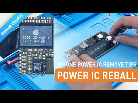Repair Course   iPhone Power IC Remove - Reball Tips
