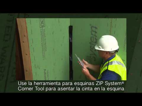 Tape the Inside Corners With ZIP System™ Tape - Spanish