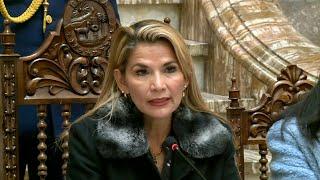 Bolivia's interim president Jeanine Anez holds press conference   AFP