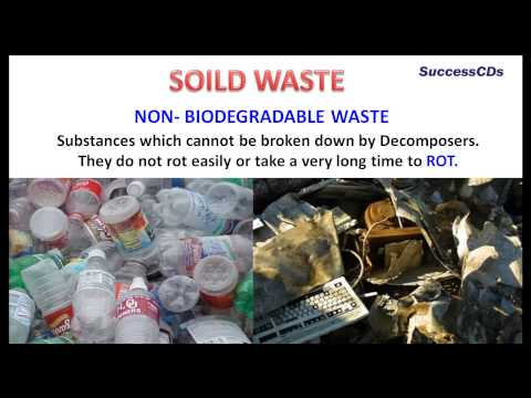 biodegradable and non biodegradable substances