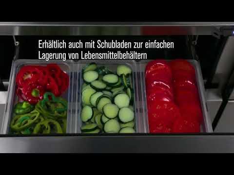 TUC/TWT Serie - Unterbaukühlschränke und Arbeitstische - Deutsch