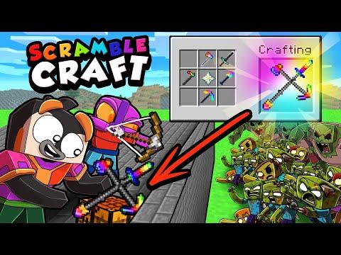Scramble Craft 1,000 ZOMBIE BASE DEFENSE! (Minecraft)