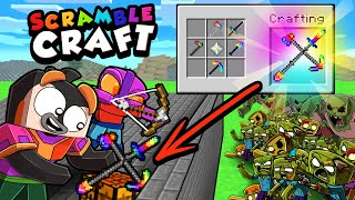 Scramble Craft 1,000 ZOMBIE BASE DEFENSE! (Minecraft)