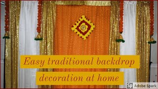 How To Decorate Easy Traditional Backdrop||  Rice Ceremony || Cradle Ceremony || House Warming