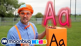 Learn the Alphabet with ABC Boxes + More Blippi  | Kids Cartoons & Nursery Rhymes | Moonbug Kids