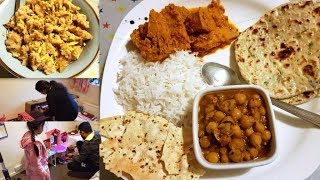 INDIAN SPECIAL DINNER ROUTINE || Finally Good News has come || Kathal Masala, Tawa Naan, Bread Halwa