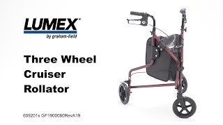 Lumex Three Wheel Cruiser Rollator Youtube Video Link
