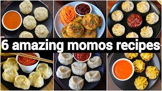 6 easy momos recipes | 6 ways of dumplings design | 6 वेज