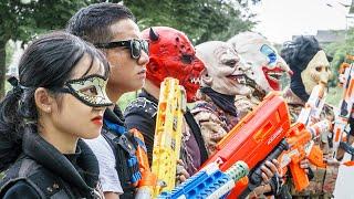 LTT Films : Warriors Black Man Nerf Guns Fight Criminal Group Tiger Mask Alliance Justice