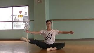 宝塚受験⽣のバレエレッスン~ パディシャの⾜を引き上げる練習~のサムネイル画像
