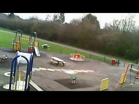 Aerial Footage of Lavender Hall Park, Playground, Skatepark, Football pitch, Balsall Common