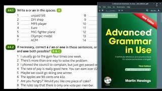 Advanced Grammar in Use   Unit 44-1   артикль A/AN
