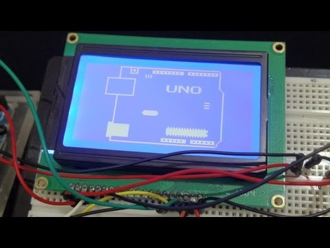 128x64 LCD dot matrix graphic display with Arduino