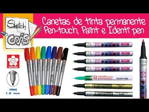 Canetas SPRAY de tinta PERMANENTE SAKURA: Paint Marker, Pen-touch e Identi Pen - Sketch Crás