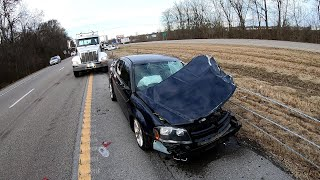 Code 3 Car Crash Blocking the Interstate